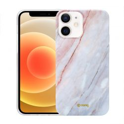 Crong Marble Case - Etui iPhone 12 / iPhone 12 Pro (różowy)