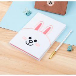 Line Friends - Pluszowy Notes / Notatnik A5 (biały)