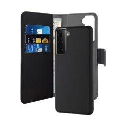 PURO Wallet Detachable - Etui 2w1 Samsung Galaxy S21 (czarny)