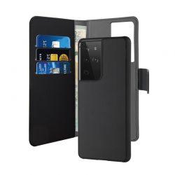 PURO Wallet Detachable - Etui 2w1 Samsung Galaxy S21 Ultra (czarny)