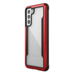 X-Doria Raptic Shield - Etui aluminiowe Samsung Galaxy S21 (Antimicrobial protection) (Red)