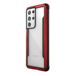 X-Doria Raptic Shield - Etui aluminiowe Samsung Galaxy S21 Ultra (Antimicrobial protection) (Red)