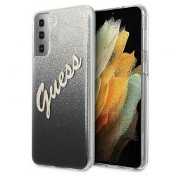 Guess Glitter Gradient Script - Etui Samsung Galaxy S21+ (czarny)
