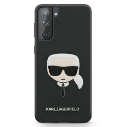 Karl Lagerfeld Saffiano Ikonik Karl`s Head - Etui Samsung Galaxy S21+ (czarny)
