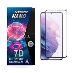 Crong 7D Nano Flexible Glass – Niepękające szkło hybrydowe 9H na cały ekran Samsung Galaxy S21