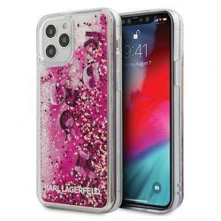 Karl Lagerfeld Glitter Liquid Floating Charms  - Etui iPhone 12 / iPhone 12 Pro (Pink Floating Charms)