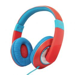 Trust Sonin Kids - Słuchawki nauszne dla dzieci (Czerwony/Niebieski)