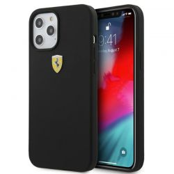 Ferrari On Track Silicone – Etui iPhone 12 / iPhone 12 Pro (czarny)