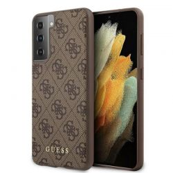 Guess 4G Metal Logo - Etui Samsung Galaxy S21 + (brązowy)