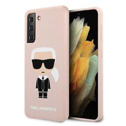 Karl Lagerfeld Fullbody Silicone Iconic - Etui Samsung Galaxy S21 + (Różowy)