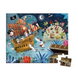 Janod - Puzzle w walizce Wyprawa po skarb (36 el.)