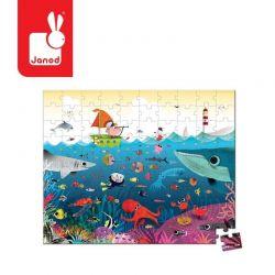 Janod - Puzzle w walizce Podwodny świat (100 el.)