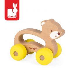 Janod - Miś pojazd drewniany Baby Pop