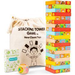 New Classic Toys - Wieża z drewnianych klocków
