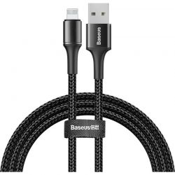 Baseus Halo Data Cable - Kabel połączeniowy USB Lightning 2.4A 1m (czarny)