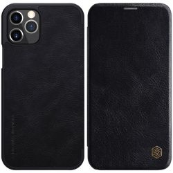 Nillkin Qin Leather Case - Etui Apple iPhone 12 Pro Max (Black)