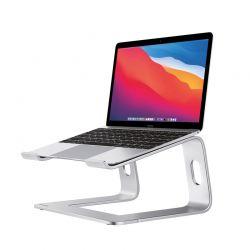 Crong AluBench – Aluminiowy stojak pod laptopa (srebrny)