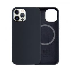 Crong Color Cover Magnetic - Etui iPhone 12 / iPhone 12 Pro MagSafe (czarny)