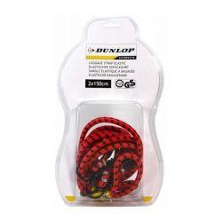 Dunlop - Gumy do mocowania bagażu 2x150cm (Czerwony)