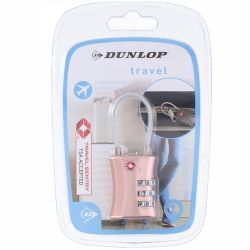 Dunlop - Kłódka na szyfr (Różowy)