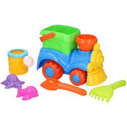 Eddy toys - Zestaw zabawek do piaskownicy 8 el. Pociąg