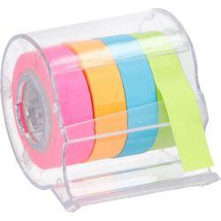 Topwrite - Karteczki samoprzylepne fluorescencyjne w rolce 4 kolory