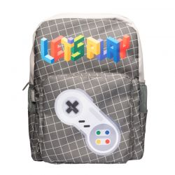 Gameration - Plecak szkolny Retro (szary)
