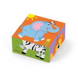 Kostki puzzle - zoo