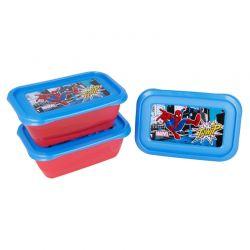 Spiderman - Zestaw pojemników na żywność 540ml (3szt.)
