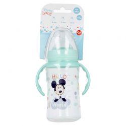 Mickey Mouse - Butelka ze smoczkiem i rączkami 360 ml