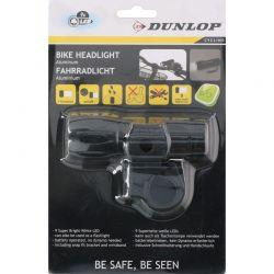 Dunlop - Lampka rowerowa 9 LED przednia 2w1