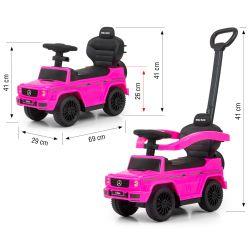 Milly Mally Pojazd z rączką MERCEDES G350d Pink