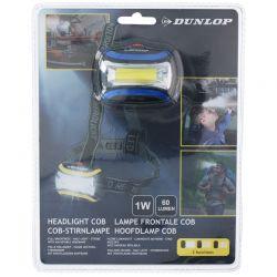Dunlop - Latarka czołowa turystyczna LED (niebieski)