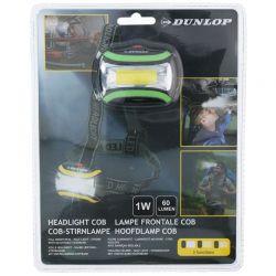Dunlop - Latarka czołowa turystyczna LED (zielony)