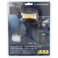 Dunlop - Latarka czołowa turystyczna LED (czerwony)