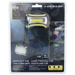 Dunlop - Latarka czołowa turystyczna LED (żółty)